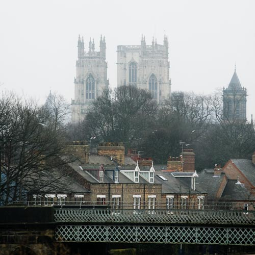 York Minster Cathedral from the train