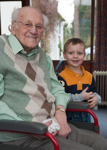 Thomas and his Great Grandpa Tom