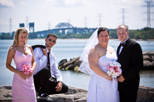 Bridal party at Burlington Lakefront
