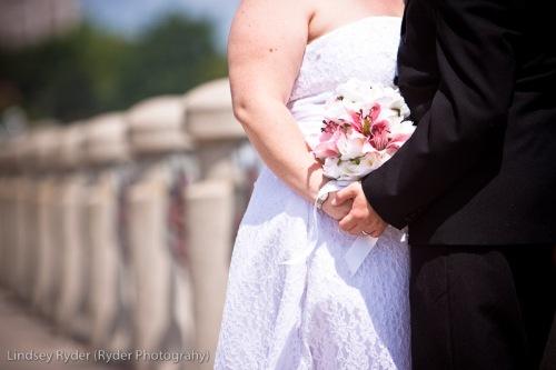 Bride in hand
